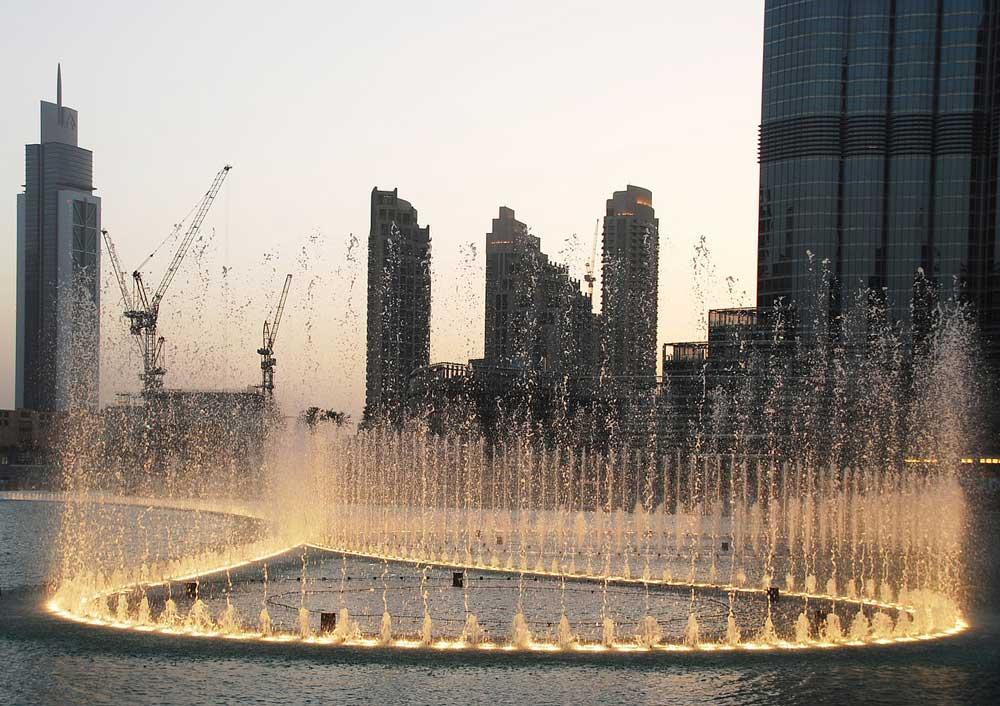 Expatriation à Dubaï - jeux d'eau